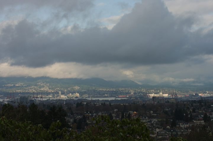 View of Vancouver northeast from Little Mountain
