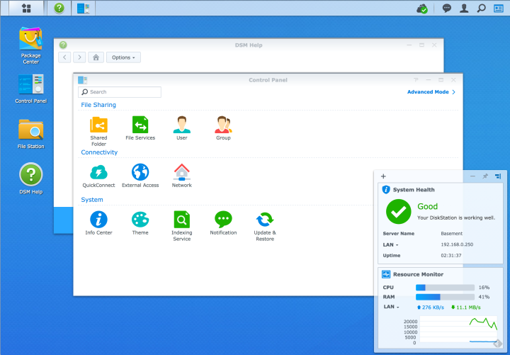 Synology GUI