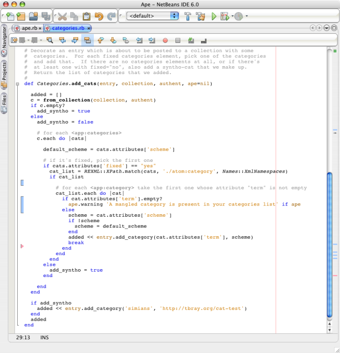 ongoing by Tim Bray · New NetBeans