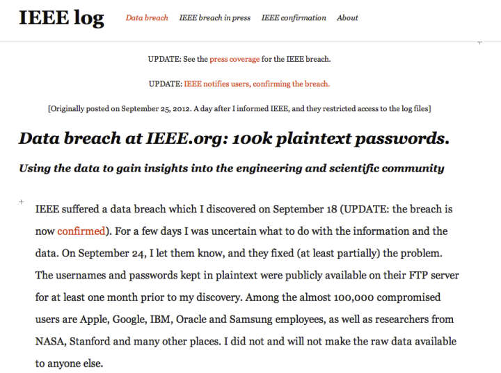 IEEE password hack