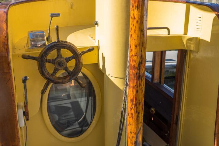 Vintage Tugboat cockpit