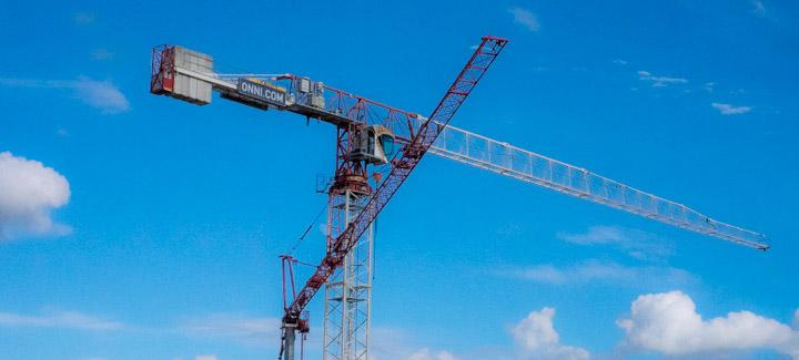 Vancouver cranes, looking up