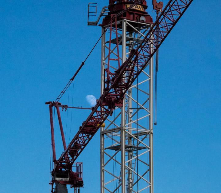 Moon in crane