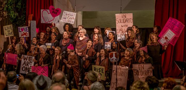 Vancouver's Roots 'N' Wings choir performing on Jan 21, 2017
