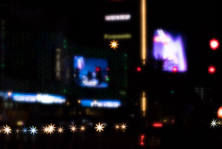 Vegas streetlights, sparklified