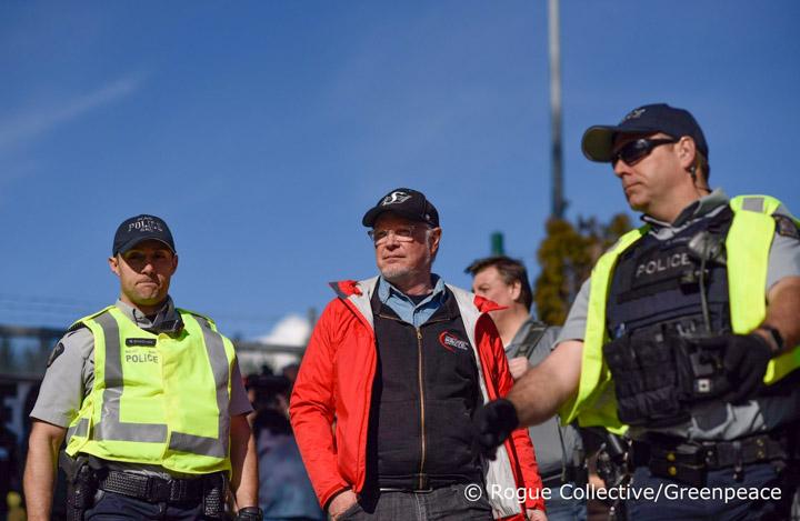 Tim being arrested