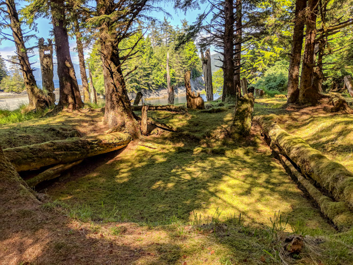 At the SG̱ang Gwaay village site, Gwaii Haanas
