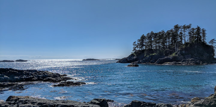 View west from Anthony Island, Gwaii Haanas