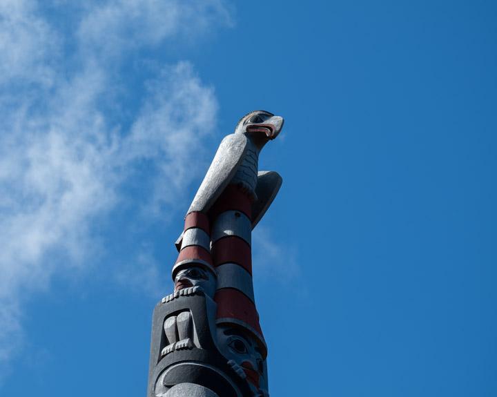 Totem pole at Windy Bay at Lyell Island