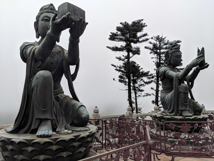 Statues around the Tian Tan Buddha