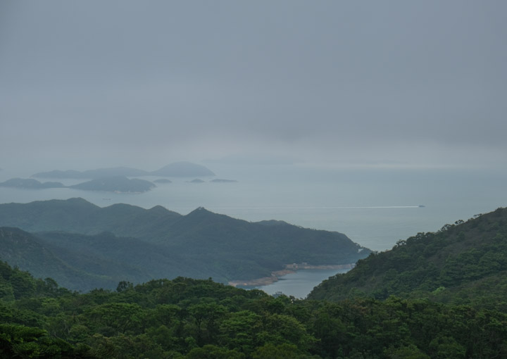 The view out to see from the Tian Tan Buddha
