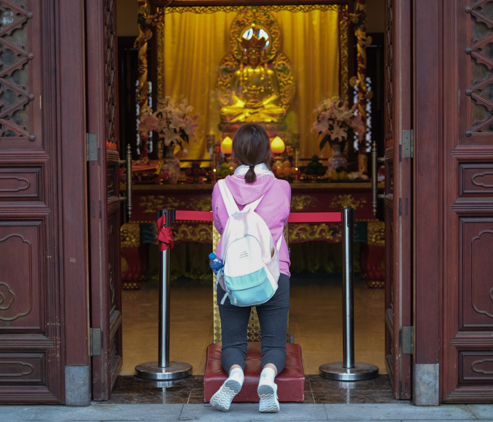 Worshipper at the Po Li monastery