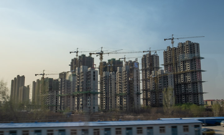 Residential construction near Beijing