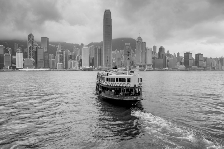 The Star Ferry heads for Central