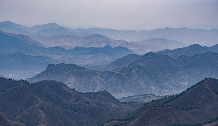 View approaching Jinshanling Great Wall