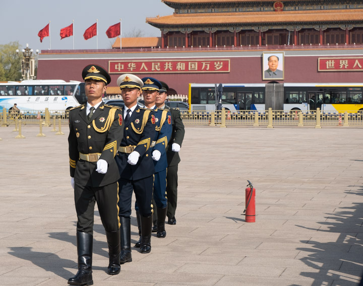 Guards in Tienanmen Square