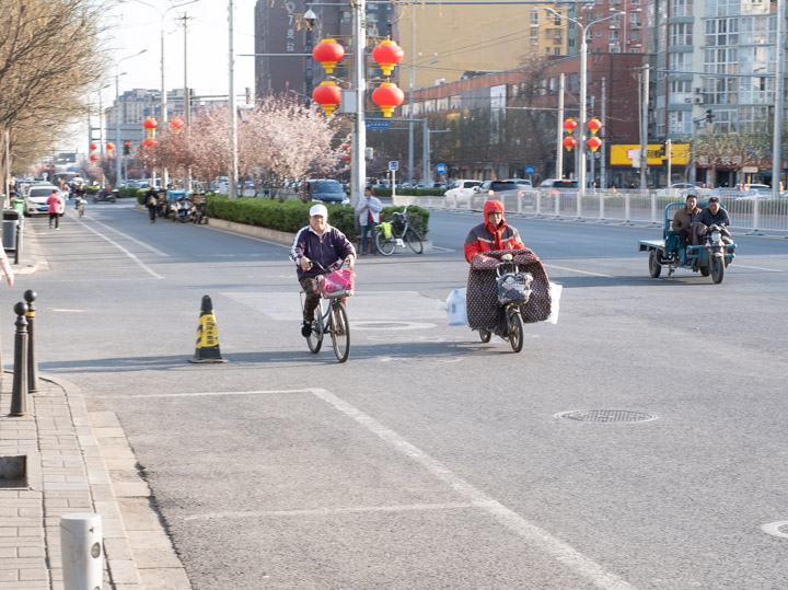 Streetside Beijing traffic