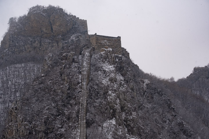 The Jiankou Great Wall in snow