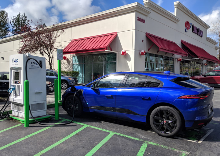 Charging the I-Pace