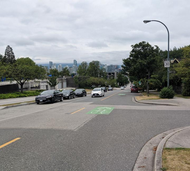 On Vancouver's Yukon bikeway