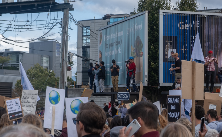 Photographers at the Climate Strike