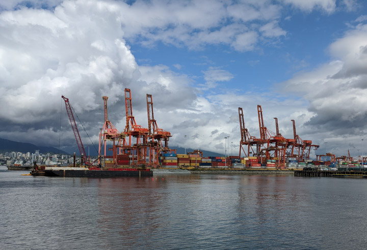 Vancouver Port from CRAB park