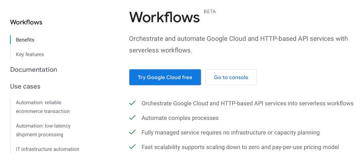 Google Cloud Workflows