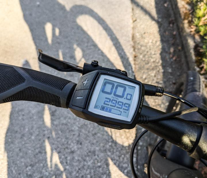 E-Bike odometer reads 2999