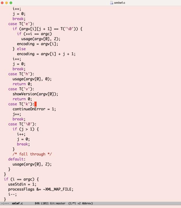 C code in Emacs in 2021