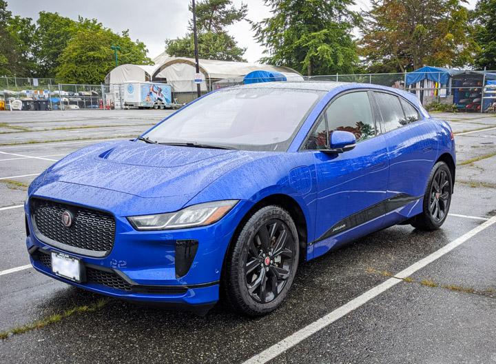 Jaguar I-Pace in the rain