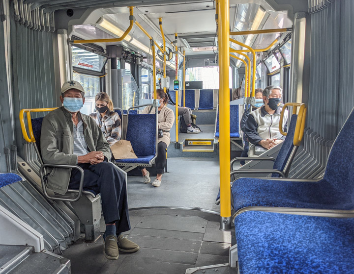 On Vancouver's #3 bus, May 5, 2021