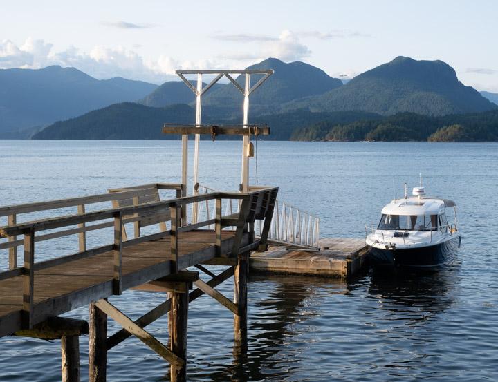 Floating dock on Howe Sound