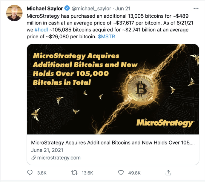 Saylor announces more $MSTR Bitcoin buys
