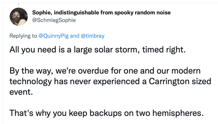 Sophie Schmieg on solar storms